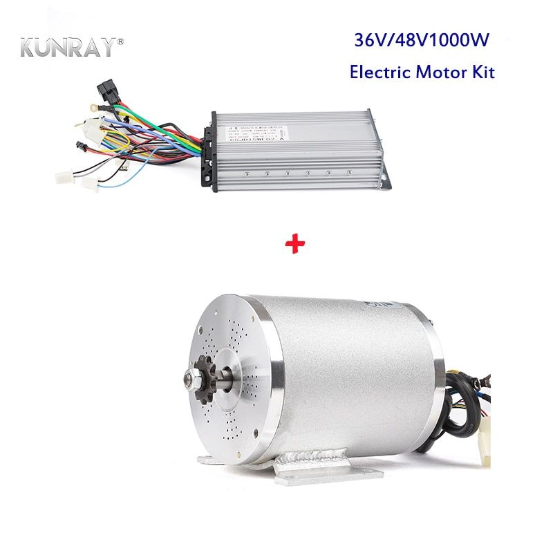 KUNRAY Electric Motor 36V 48V 1000W DC Brushless High Speed Mid Drive Conversion Kit VAE Quad Tricycle Car Scooter E-Bike Moto