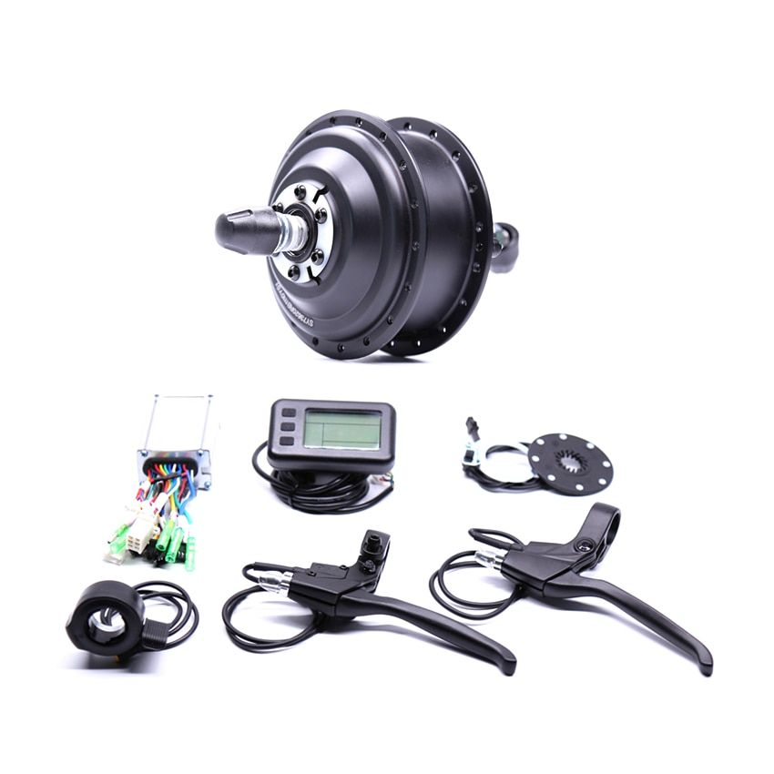 2017 Electric 36v350w Front/rear Electric Bike Conversion Kit Brushless Hub Motors with ebike system