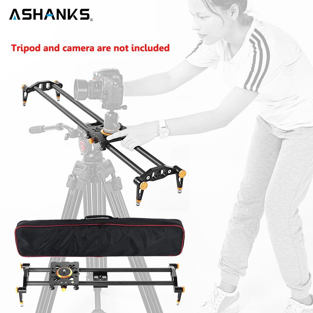 Ashanks 60 cm 6 Lager Kohlefaser DSLR Kamera DV Slider Track Video Stabilizer Gleis Schieber Für DSLR oder Camcorder