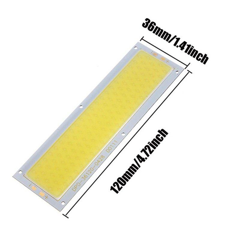 Высокая Мощность DC12V 10 Вт удар светодиодные полосы лампа загорается лампа 1000lm для DIY автомобиля Подсветка l120x36mm белый