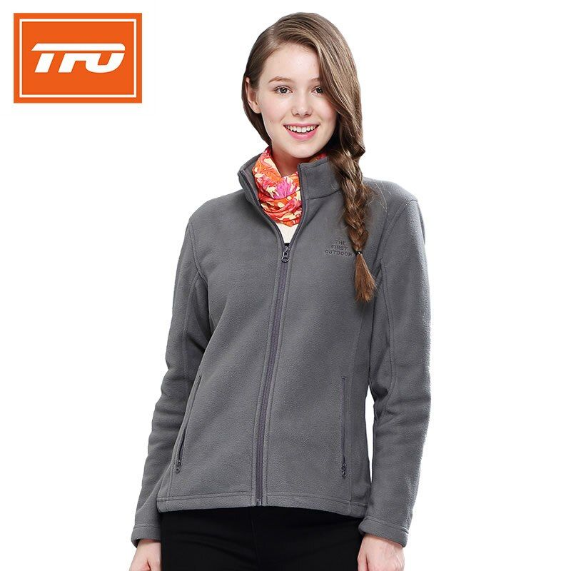 TFO hiking jacket Outdoor fleece Women softshell Jackets Thermal Heated Camping Windproof Sportswear warming climbing