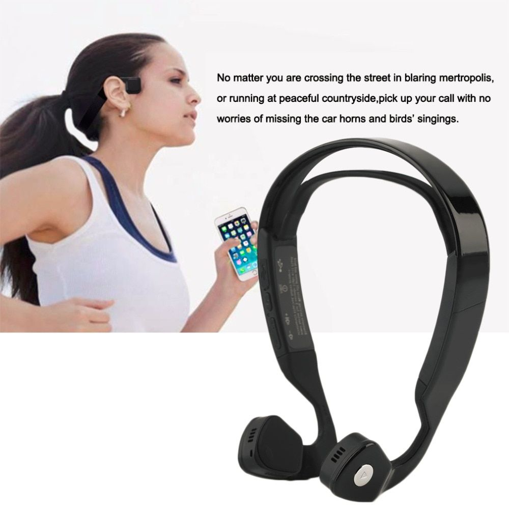 2017 New Arrival Bone Conduction Headphone Bluetooth 4.0 Wireless Stereo Sports Headset  with Mic for IOS Android phone