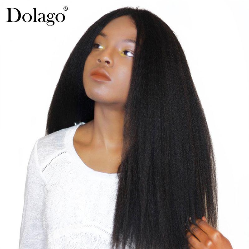 Kinky Straight Hair Brazilian Virgin Hair Weave Bundles Coarse Yaki 100% <font><b>Human</b></font> Hair Bundles Dolago Hair Products Extensions