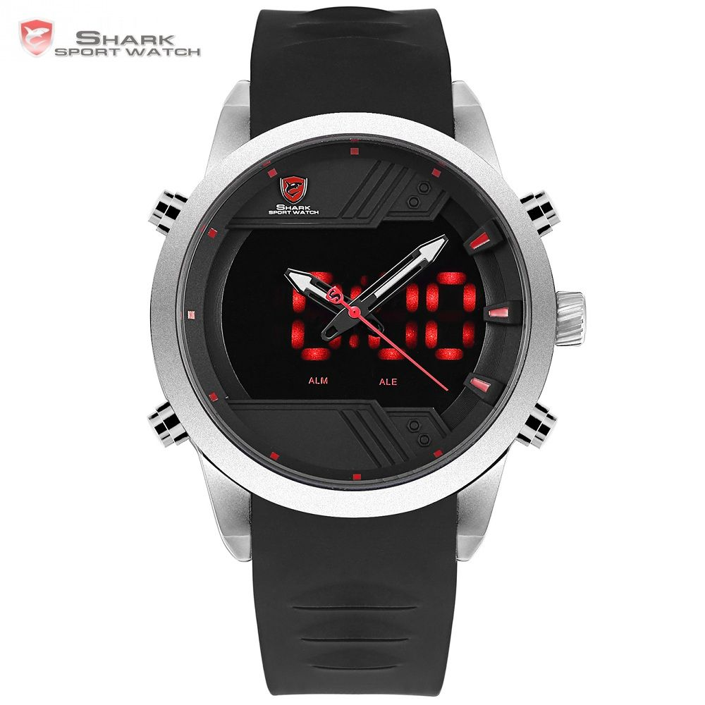Sawback Angel Shark Sport Watch New Edition Brand Men LED Calendar Fashion Digital Military Outdoor Silicone Wristwatches /SH540