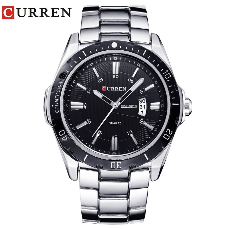 NEW curren watches men Top Brand fashion watch quartz watch male relogio <font><b>masculino</b></font> men Army sports Analog Casual 8110