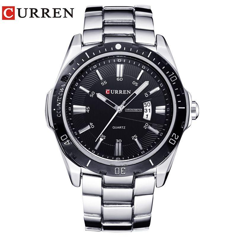 NEW curren watches men Top Brand fashion watch quartz watch male relogio masculino men <font><b>Army</b></font> sports Analog Casual 8110