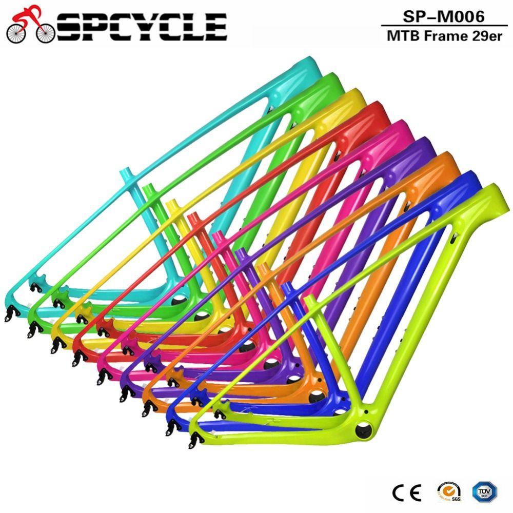 Spcycle 2018 Neue T1000 Carbon Mtb Rahmen 29er Carbon Mountainbike Rahmen 142*12 Steckachse oder 135 * 9mm QR Fahrrad Rahmen