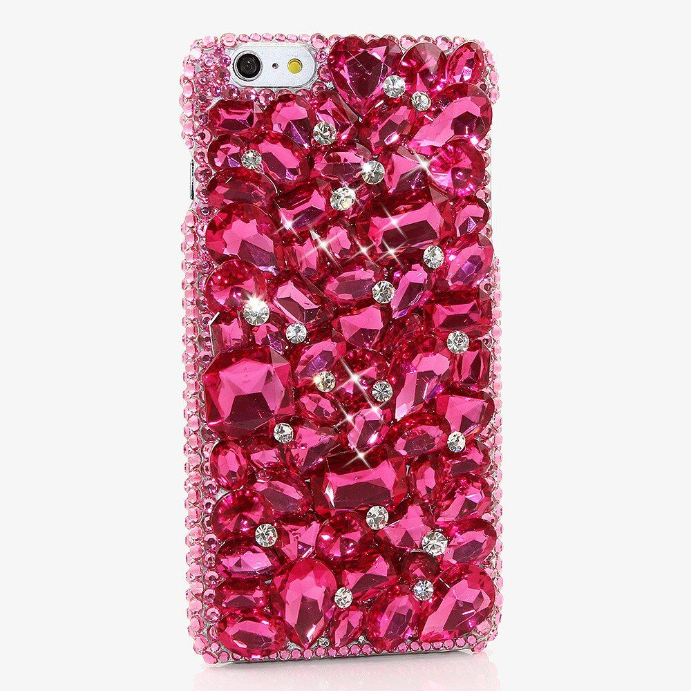3D Jeweled Rose Rosa Bling Diamant-kasten für Samsung Galaxy S7 S8 Plus S6 S5 S4 Anmerkung 8/3/4/5 Galaxy J3/J5/J7