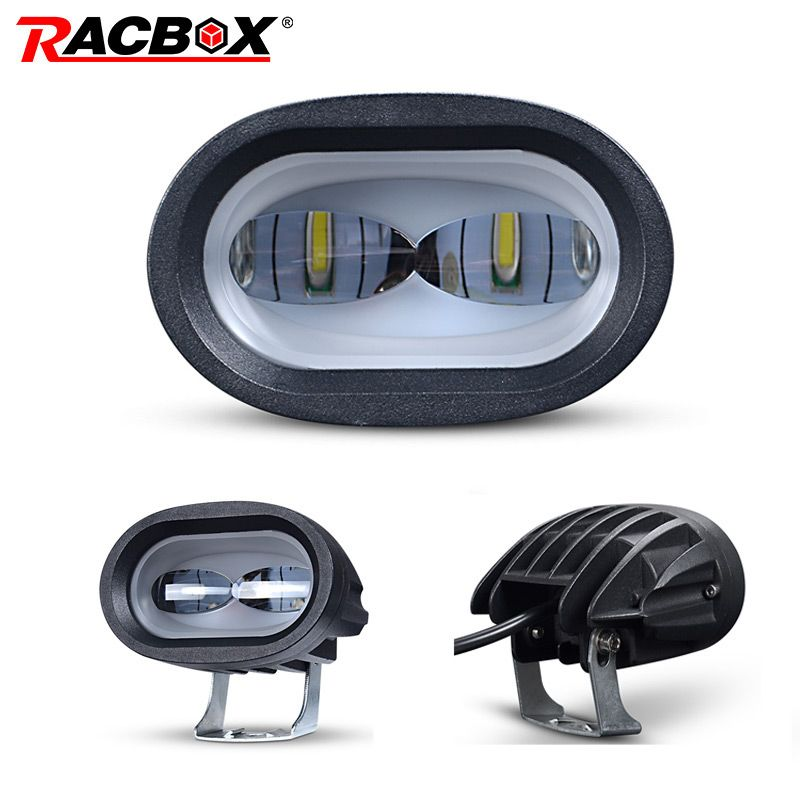 20W LED Work Light 6D Universal Motorcycle Off Road Auxiliary Spot Lamp Driving Fog Light for Car Truck Motorbike Headlight Spot