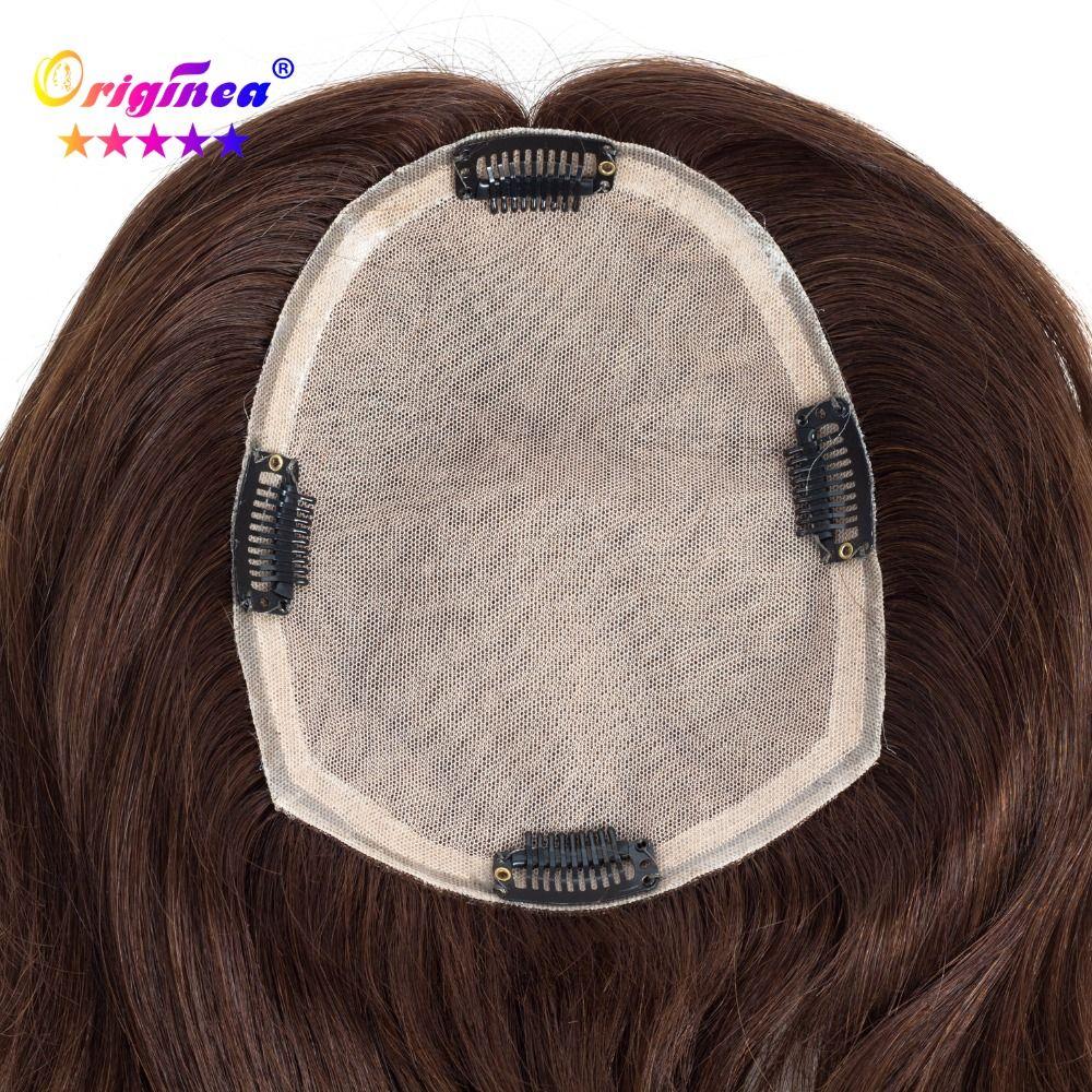 Originea frauen Toupet Net Basis Größe 13*17 cm Haar Länge 30 cm zu 50 cm 100% Menschlichen haar Toupet Ersatz System für Frauen