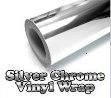 300mmX1520mm Chrome Silver Vinyl Car Sticker Electroplated silver film DIY Wrap Sheet Film  Decal Car Styling