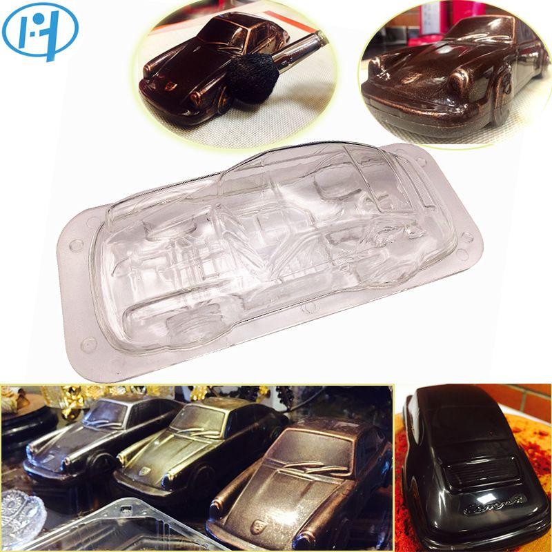 Voiture Design 3D chocolat moule bricolage à la main gâteau bonbons en plastique véhicule chocolat faisant outil gâteau décoration moules cuisson moule