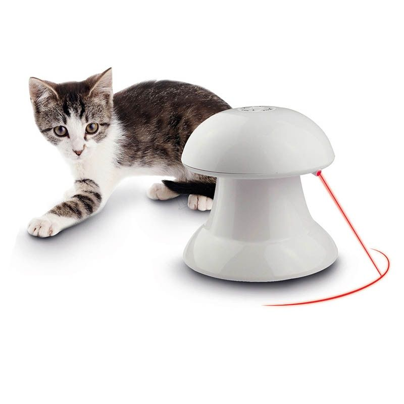 Pet Toy Cat Automatic Interactive Dart Laser 360 Degree Toys LED Pointer Funny Training Goods For Cats Kitty PT5012
