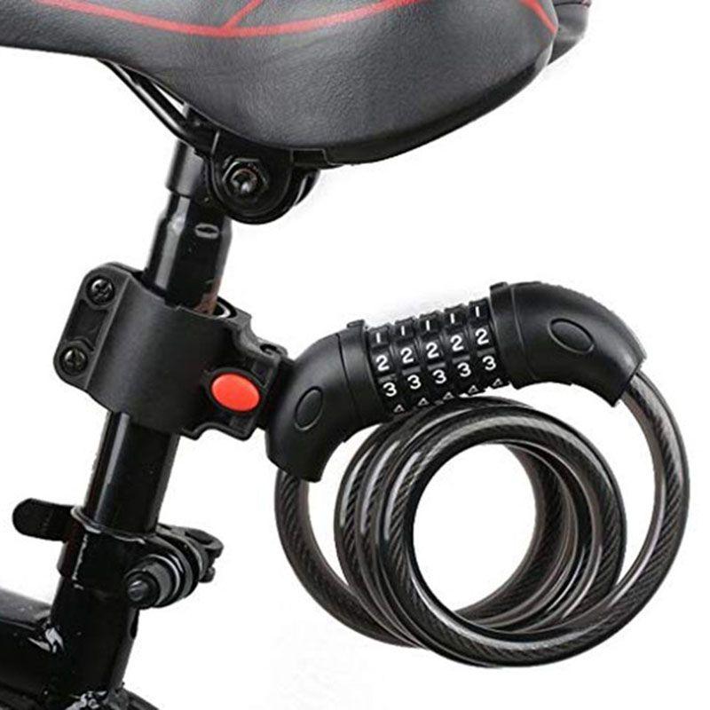 Code à 5 chiffres vélo serrure vtt montagne Code de la route vélo mot de passe serrure Anti-vol électrique mot de passe facile sécurité acier