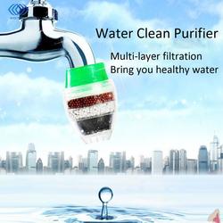 Hogar filtro de agua de carbón activado Mini cocina grifo purificador de agua planta de purificación filtración 21-23mm