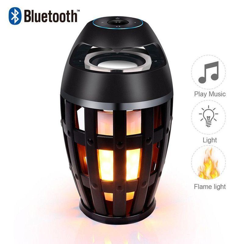 Tragbare Led Flamme Lautsprecher Home Bluetooth Atmosphäre Weiches Licht Woofer Mini Outdoor Camping Stereo Musik Box Bluetooth Lautsprecher