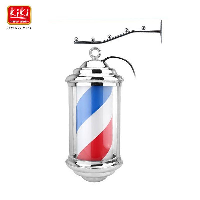 KIKI.343 mini größe Barber Pole. roating und beleuchtung. Salon Ausrüstung. Barbier Zeichen. Kostenloser Versand. Hot verkaufen