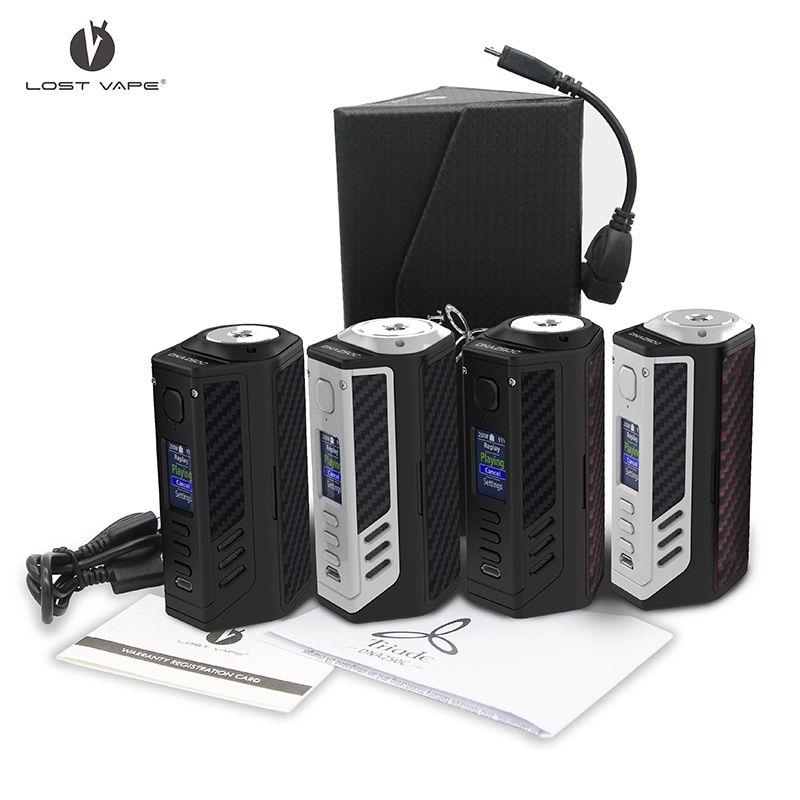 Newest Original Lost Vape Triade DNA250C 300W box mod Powered by triple 18650 Electronic cigarette mod vs paranormal DNA250C