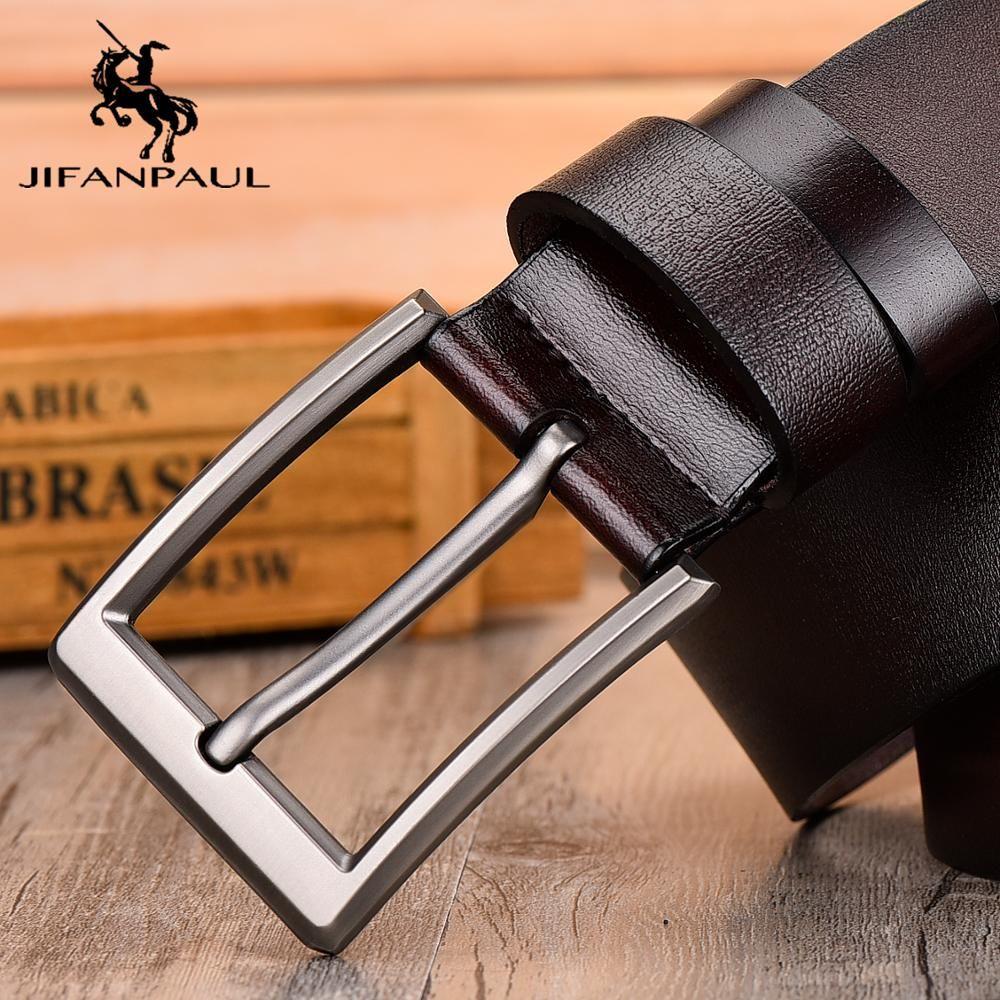 JIFANPAUL ceinture de cuir pour hommes classique boucle ardillon design mode moderne jeunesse jeans décoratif de haute qualité nouvelle ceinture livraison gratuite