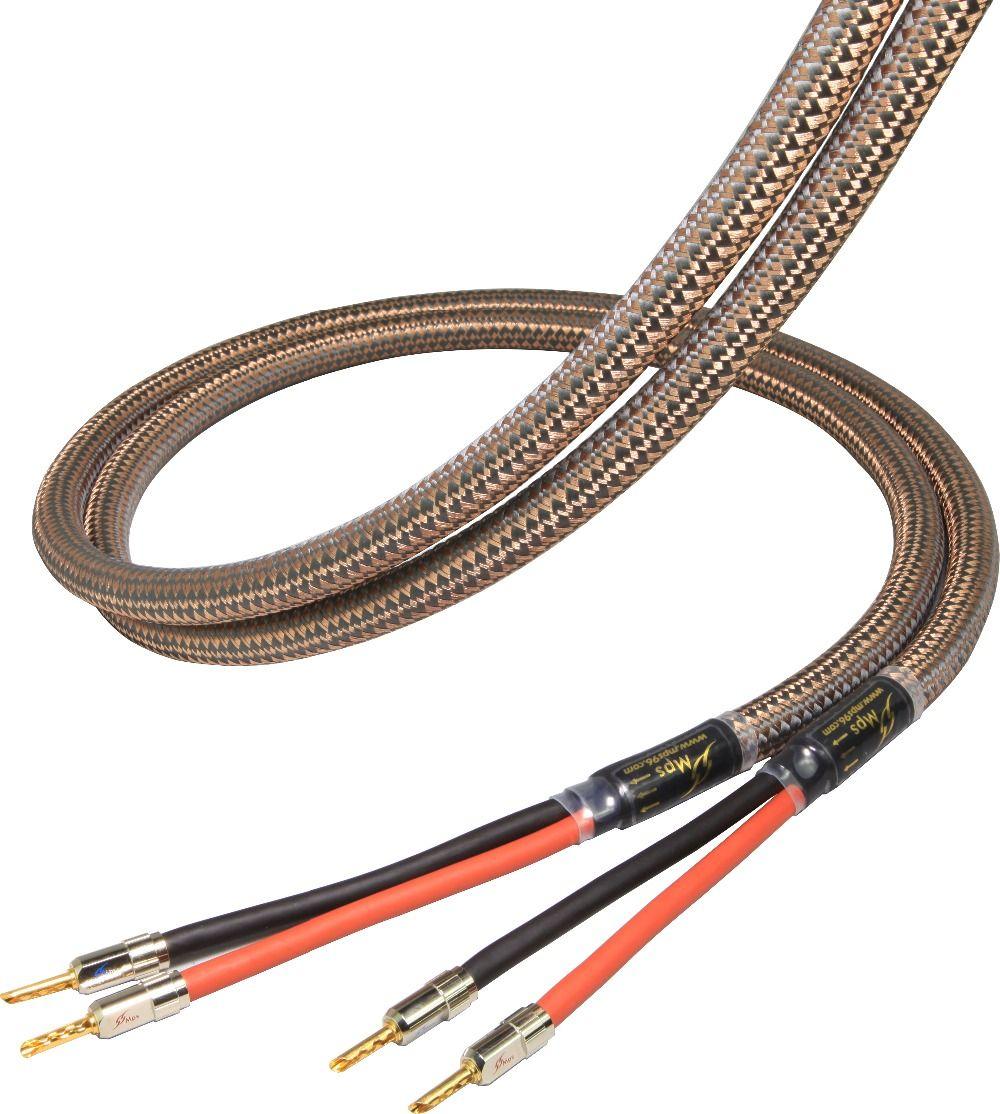 MPS E-330SP MK2 HiFi 99.99997% OCC 24 Karat Vergoldete lautsprecher stecker Bi lautsprecherkabel audiokabel verstärker 1 paar