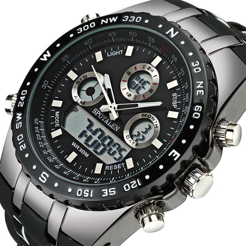 SPOTALEN <font><b>Sport</b></font> Military Men Digital Watch Army Clock Male Brand Waterproof Wrist Watches LED Electronic Watch relogio masculino