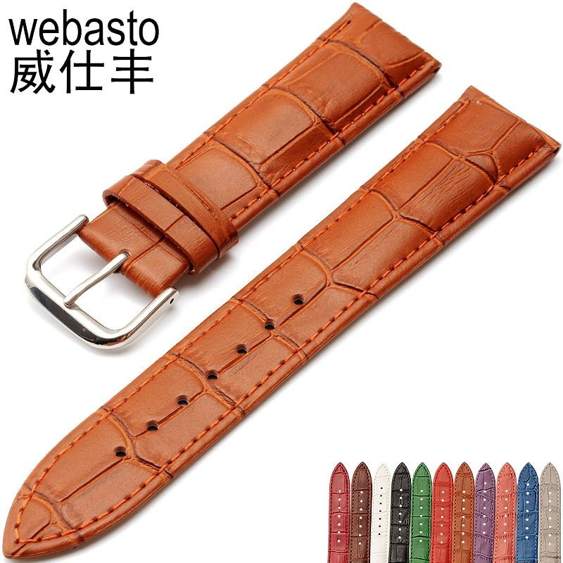 Men's Alligator Leather 12 14 16 18 19 20 21 22 24 26 28 mm Watch Band Strap For Hours Male Female Belt Bracelet Montre Cuir