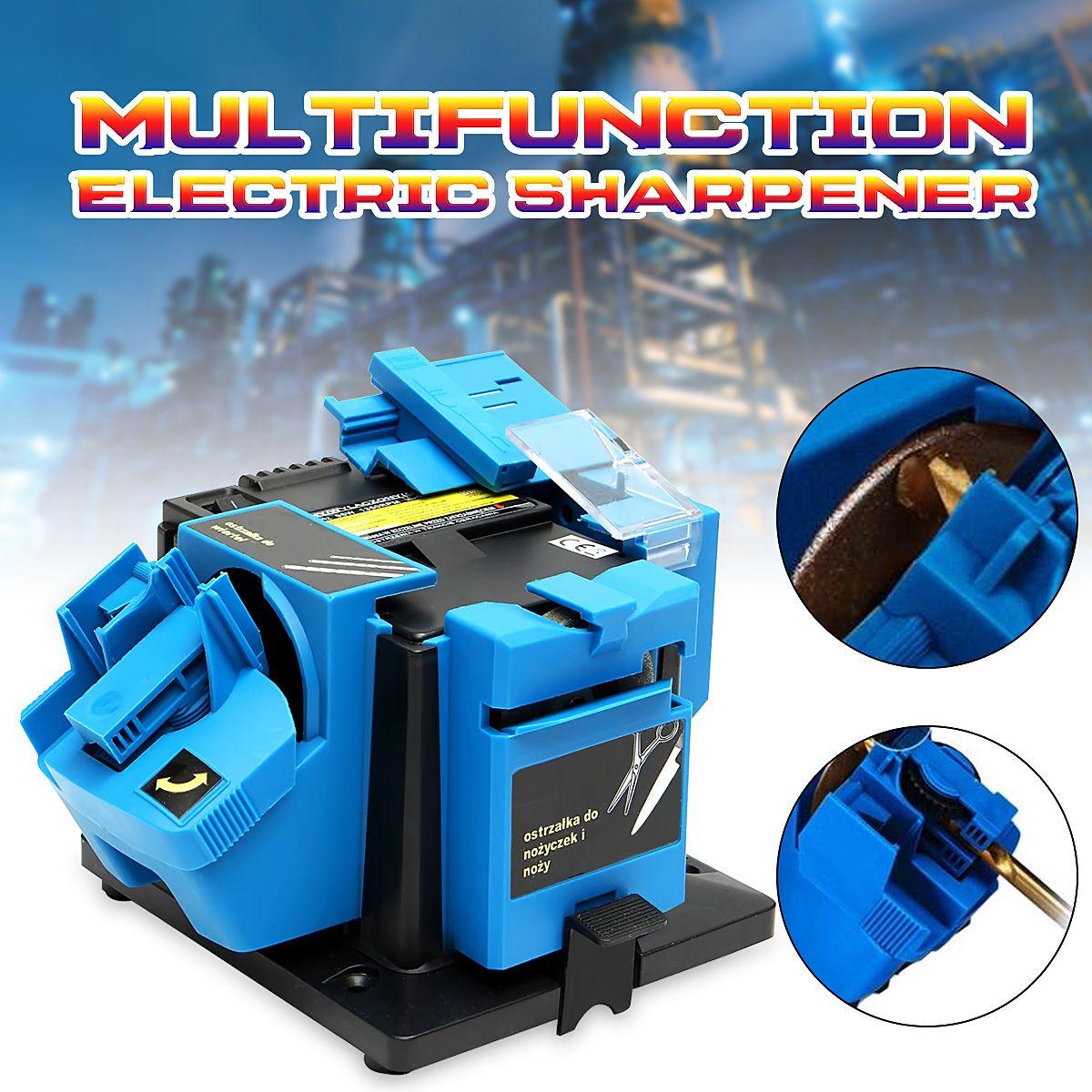 Electric Household Sharpener Tool Drill Bit Knife Scissor Sharpener Grinder 96w 220V Electric Grinder Plane Sharpener
