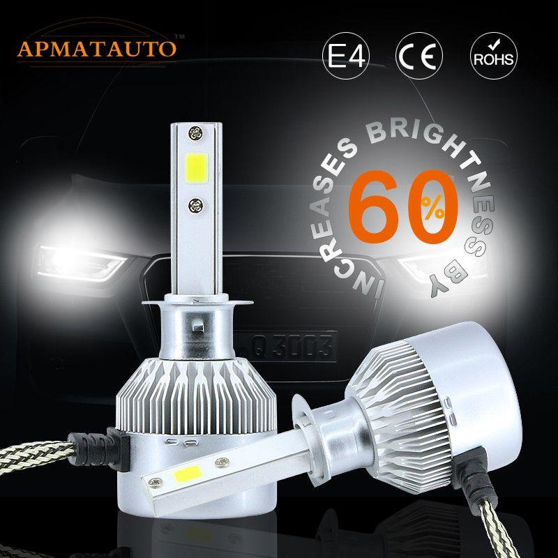 2X 6000K White Car LED Headlight 16000LM H1 H3 H4 H7 H8 H9 H11 9005 HB3 9006 HB4 880 881 H27 9012  Headlamp Kit Hi/Lo Beam Bulb
