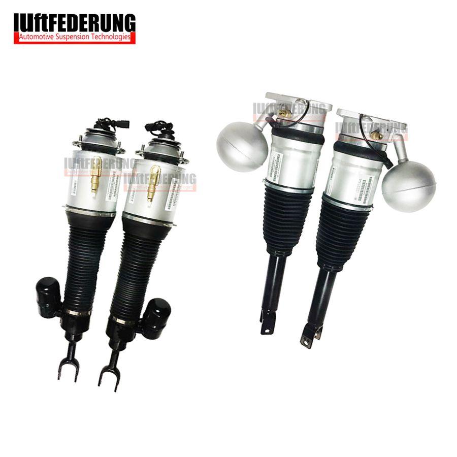 Luftfederung 4PCS VW Phaeton Front Rear Suspension Air Springs Air Shock Strut Assembly 3D0616001J(02J) 3D0616039AD(40AD)