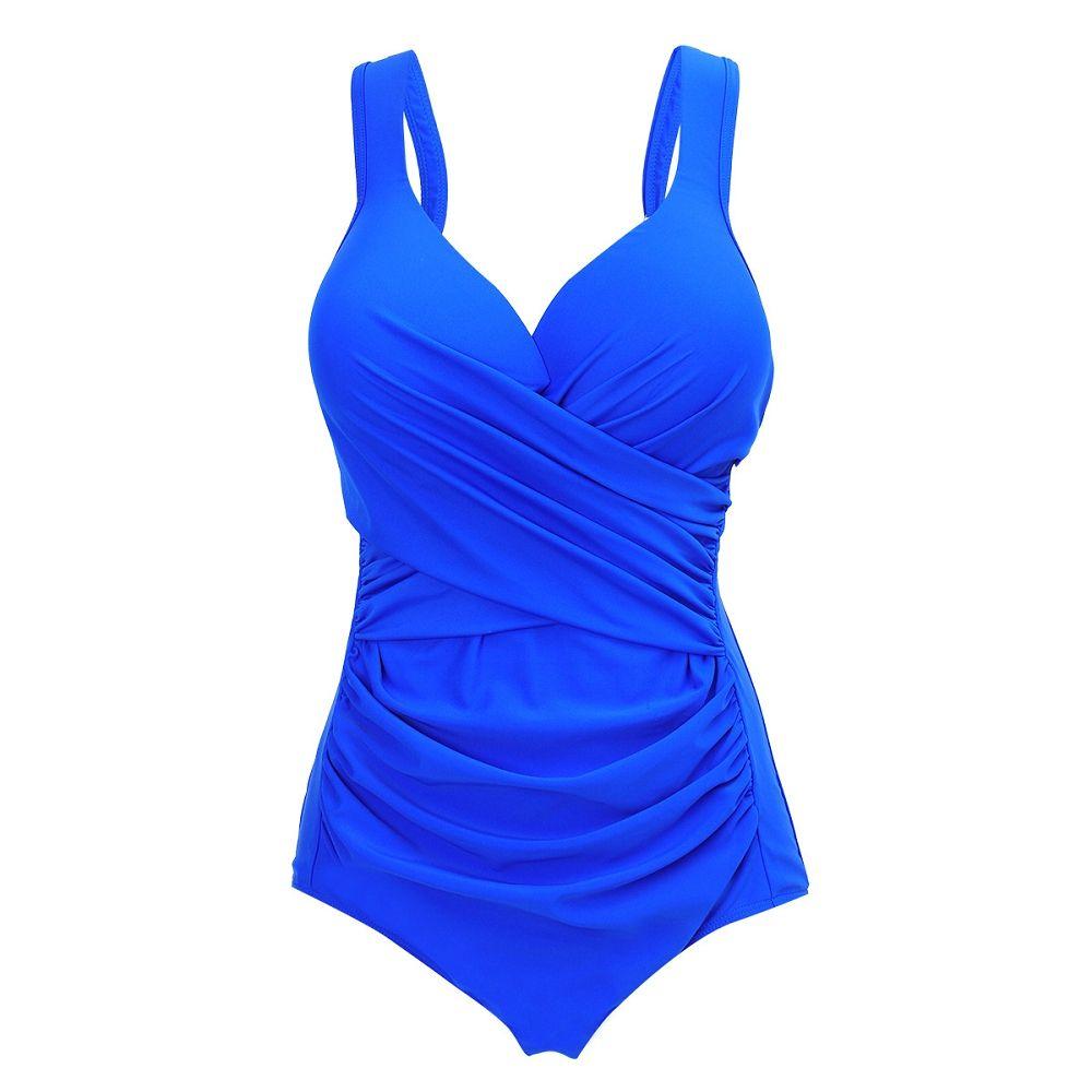 YOUDIAN 2017 Solid Women Swimwear One Piece Large Size Russian Swimsuit Plus Size Beachwear Bathing Suit Swim Wear Monokini