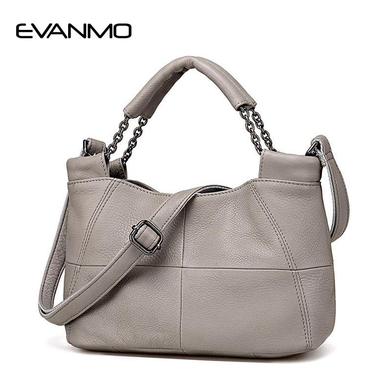 EVANMO meilleure offre spéciale seau qualité en cuir véritable femmes sacs à main marque fourre-tout sac plaids couvre-lits poignée célèbre Designer Totes
