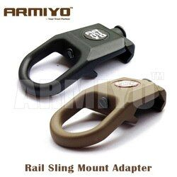 Armiyo Airsoft Handguard Sling Swivel Attachment 20mm Rail Tactical Bolt Mount Adapter Hunting Pouches Accessories