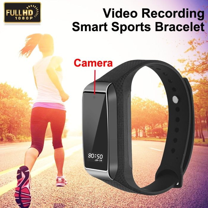 1080 P HD Mini caméra Pro K68 Bracelet intelligent avec caméscope DVR vidéo enregistreur Audio Bracelet Bracelet de montre Sport Fitness Tracker
