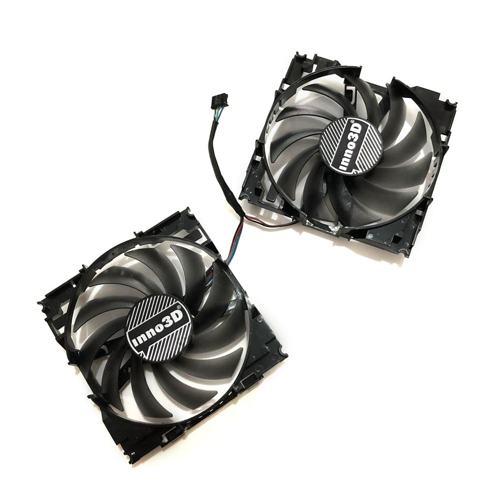 2pcs/set CF12915S InnoVISION GTX1060 GPU VGA Card Cooler Fan For INNO3D GEFORCE GTX 1060 6GB X2 Graphics Card As Replacement