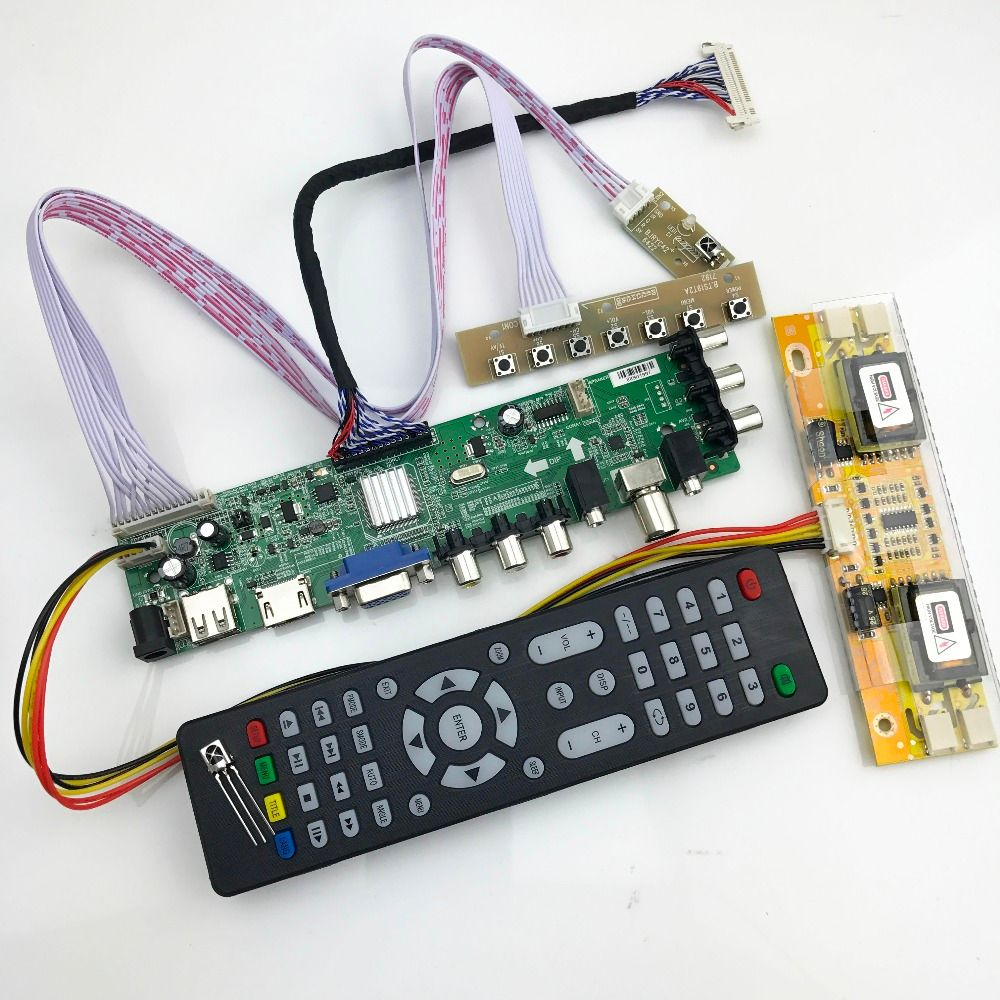 D3663LUA digital TV board DVB-T2/T/C Universal LCD LED TV Controller Driver Board with cable inverter support russian 366348