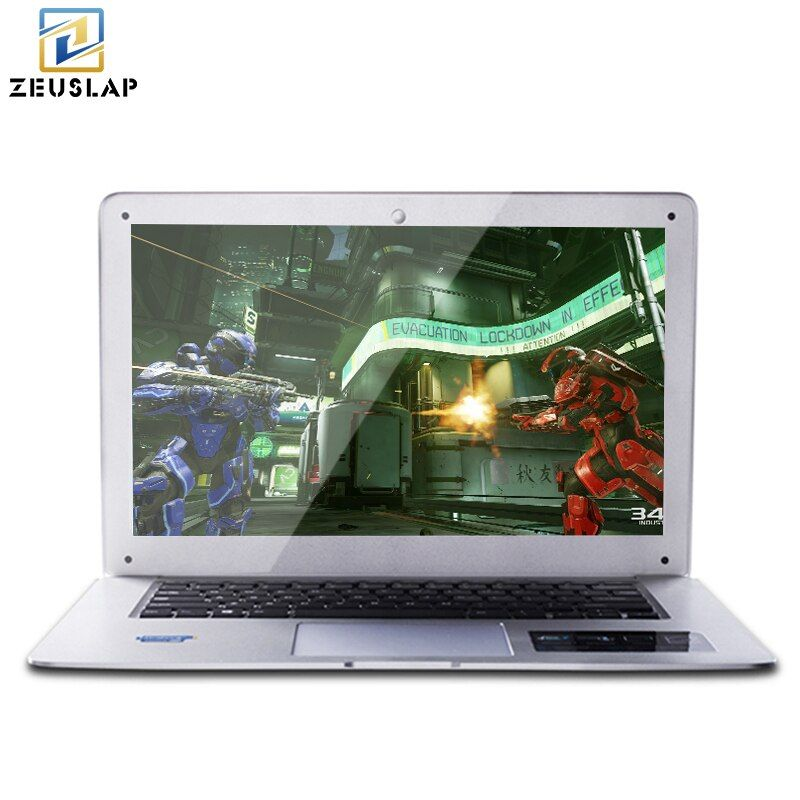 ZEUSLAP 8 GB RAM + 120 GB SSD + 750 GB HDD Double Disques Windows 10 Système Ultra-Mince 1920X1080 HD Course Rapide Ordinateur Portable Ordinateur Portable