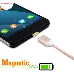 Econais Android Magnetic Micro Cable USB para Xiaomi 3 4 Redmi 3 s nota 2 3, cable magnético para Meizu Mx4 5 nota 3 2 cargador