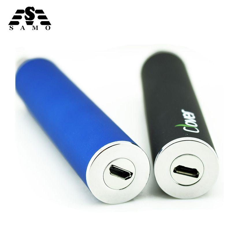 Cigarette électronique batterie trèfle 2600 mAh USB Passthrough E Cigarette batterie trèfle racine 510 fil VS ego-t batterie