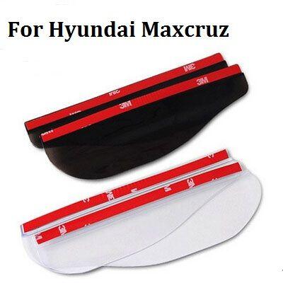 2017 car styling New arrival  2pcs Car New Rearview mirror rain eyebrow Side Shineld Cover Stickers For Hyundai Maxcruz