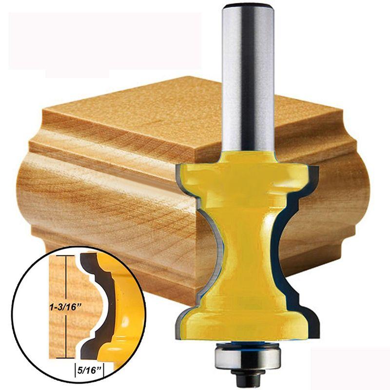 Neue 1/2 ''Schaft Bullnose Perle Spalte Gesicht Molding Router Bit Für Holzbearbeitung Werkzeuge