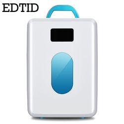 EDTID MINI Réfrigérateur De Voiture Portable Auto ménage Réfrigérateur Voyage Refroidisseur glacière électrique alimentaire Congélateur Chaud Bureau 10L 12 V 220 V