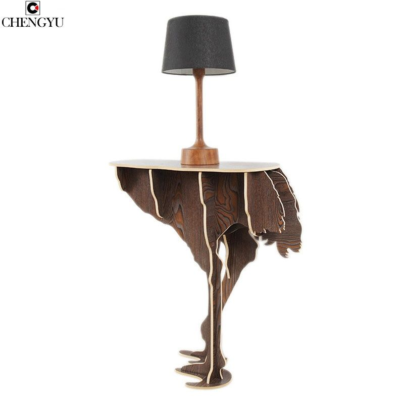 Creative Assembly Wooden Table Modern Home Creative Wall Wall Living Room Casual Coffee Table Household Goods 73*76*30cm