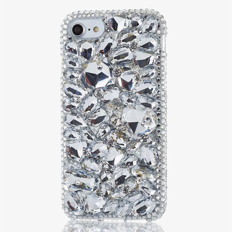 3D Shiny Jewelled Diy Handmade Crystal Diamond Case for Samsung Galaxy S7 S8 Plus S6 S5 S4 Note 2/3/4/5 Galaxy J3/J5/J7