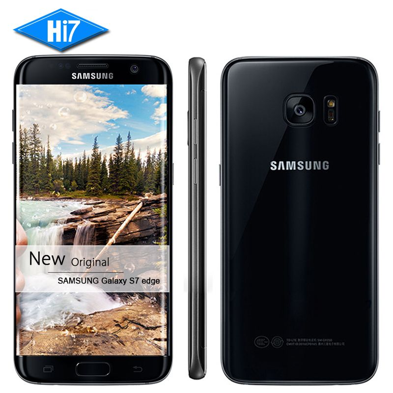 New Original Samsung Galaxy S7 edge 2016 Waterproof mobile phone 4GB RAM 32GB ROM Quad Core 5.5 inch NFC WIFI GPS 12MP 4G LTE