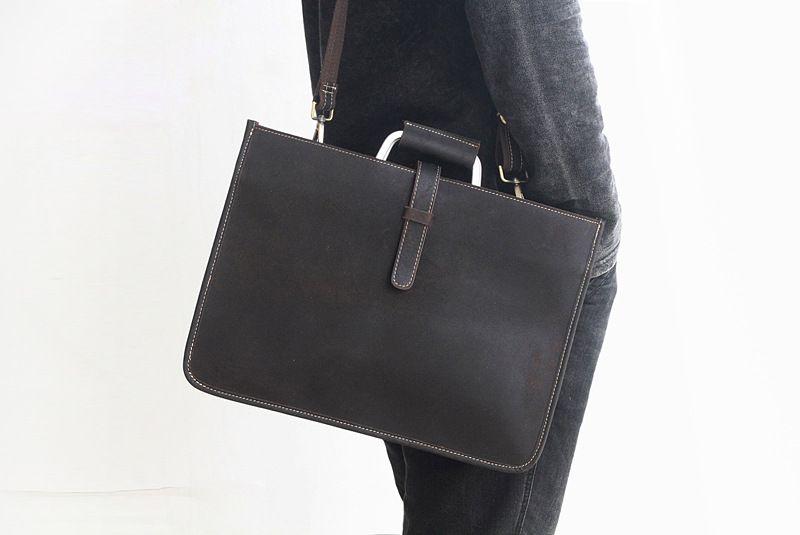 2019 neue stil leder rechteck dünne business tasche büro laptop taschen