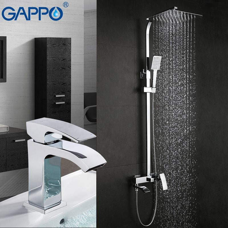 GAPPO Shower Faucets bath tub mixer waterfall shower taps basin faucets basin tap mixer rainfall shower set