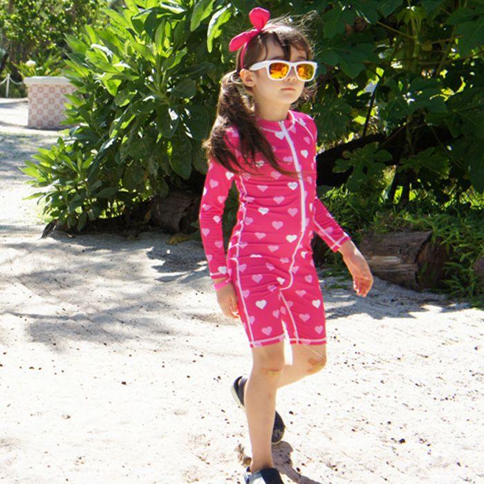 Neue Rosa Badeanzug Langen Ärmeln One Piece Anzug Schwimmen Anzüge Marke Strand Tragen für Mädchen Jungen für Kinder Blau Bademode mädchen