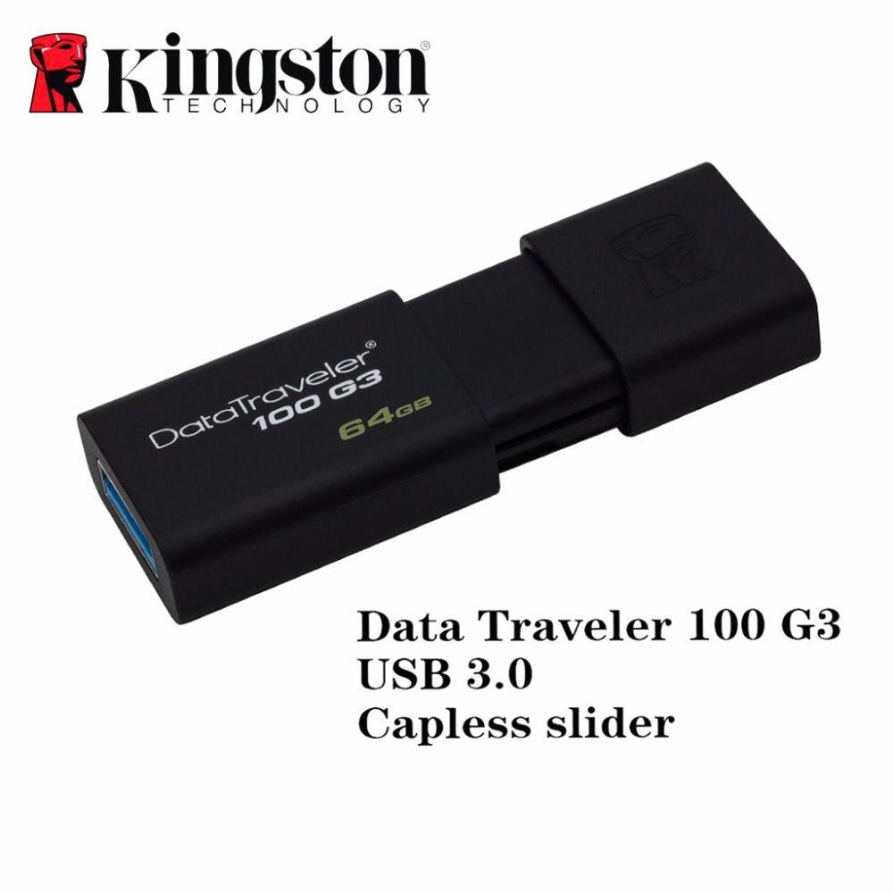 Kingston usb 3.0 flash pen drive pendrive bâton 16 gb 32 gb 64 gb 128 gb marque memoria mini usb stylo-drive caneta memory stick lecteur