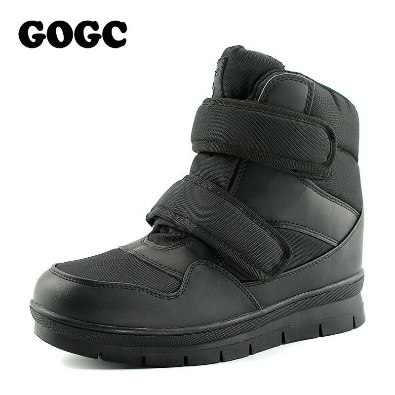 GOGC Hombres Warm Winter Botas de Nieve Botas de la Marca antideslizantes Invierno los hombres Zapatos de Los Hombres de Alta Calidad Calzado de Invierno Booots Tobillo Plus tamaño