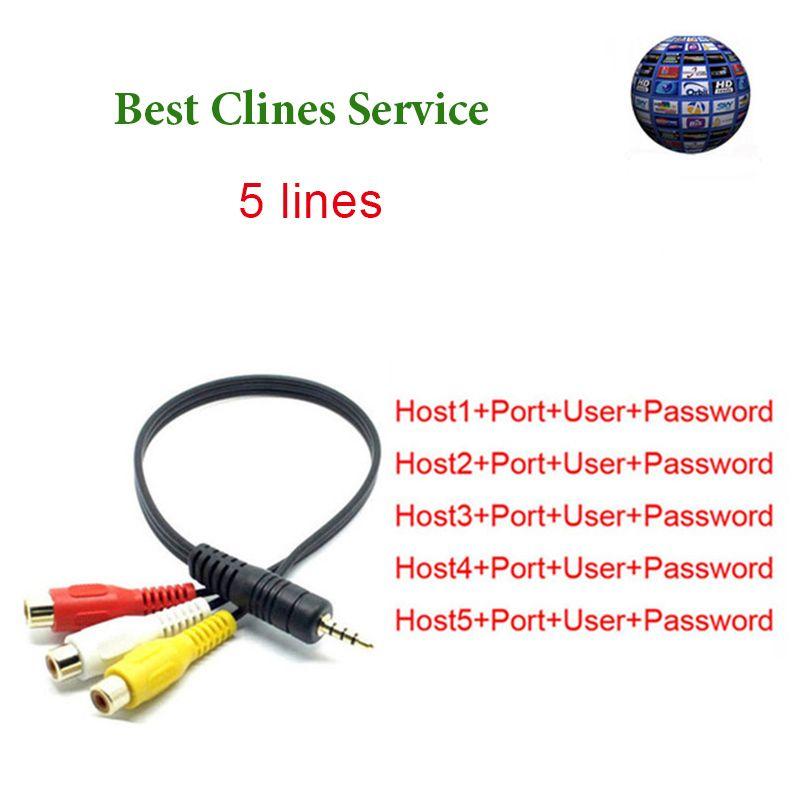6/12 Monate 5 linien Cccam Server HD AV Kabel Spanien kanäle Für Satellitenempfänger Freesat V8 V7 DVB-S2 über USB wifi ccam clines
